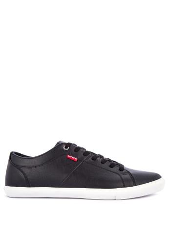 Levi's black WOODS PU Sneakers 3783ASH628D08BGS_1