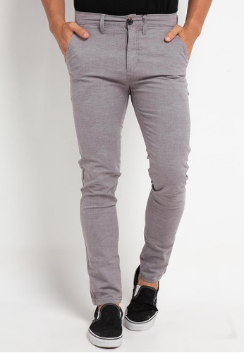 Tripl3 Jeans grey Celana Chinos Slim Fit F428BAA0835A79GS_1