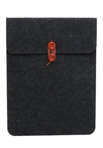 Hamlin grey Hamlin Quenty Felt Button Style Sleeve Case Laptop Ultrabook Compability 15 Inch Material Wool ORIGINAL E29ADAC4582C69GS_1