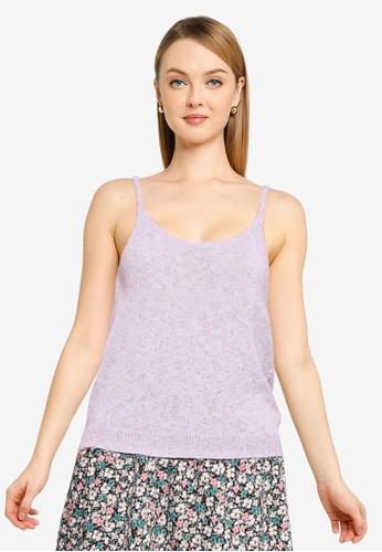 Vero Moda purple Sleeveless Strap Top 4D2A9AA47635BCGS_1
