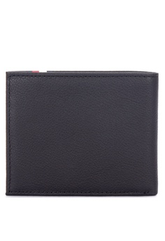 3f7a840f049 Tommy Hilfiger black Th Corporate Mini Cc Branded Leather Bi-fold Wallet  8169CAC826694FGS_1