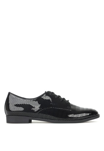 Betts black Manny Perforated Lace-Up Shoes EA5C4SH73D534EGS_1