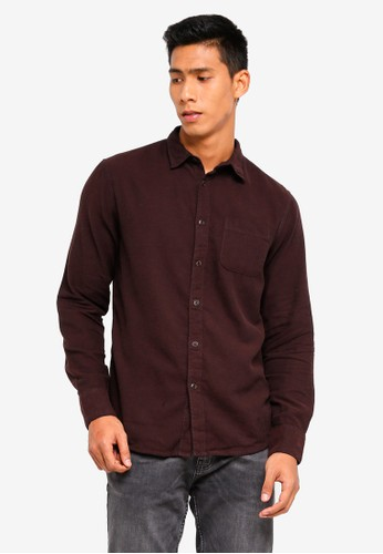 OVS brown Casual Solid Colour Shirt 18ACDAA33A3961GS_1