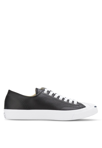 7e6d53c34453 Converse black Jack Purcell Jack Leather Ox Unisex Sneakers CO302SH80YJFMY 1