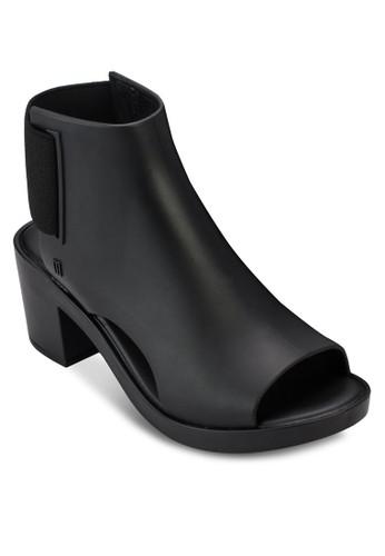 彈性鏤空粗跟踝靴, 女鞋, esprit高雄門市鞋