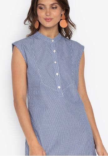 07e0e14e7310e8 Shop Folded   Hung Sleeveless Chambray Button Down Dress Online on ZALORA  Philippines