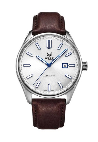Wulf brown and silver Wulf Alpha Silver and Brown Leather Watch 80EDEAC44790A5GS_1