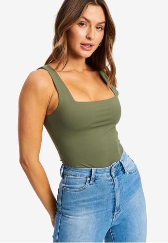 Tussah 綠色 Maria Tank上衣 5D74CAA6BA3D52GS_1