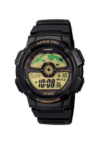 CASIO black Casio Men's Digital AE-1100W-1BVDF Black Resin Band Sport Watch 1364AAC3A45055GS_1
