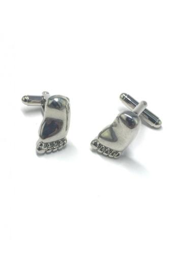 Splice Cufflinks silver Silver Foot Cufflinks   SP744AC17DNISG_1