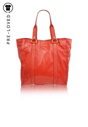 Miu Miu red Pre-Loved miu miu Red Patent Leather Tote Bag 88641AC8355789GS_1