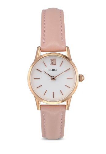 CLUSE pink and gold La Vedette Rose Gold White/Pink CL977AC0SA2BMY_1