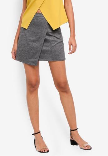 ZALORA BASICS grey Basic Scuba Mini Skirt 8D544AA10D13FEGS_1
