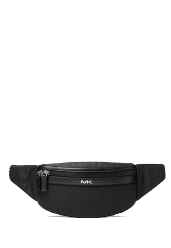 Michael Kors black MICHAEL Michael Kors Kent Logo Tape Nylon Gabardine Belt Bag B6E79ACB7D96D7GS_1
