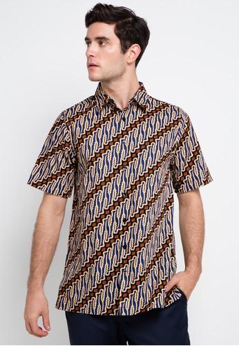 Batik Solo multi Short Sleeve Cotton Print Shirt BA657AA0VD44ID_1