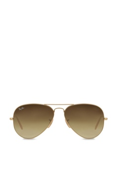 c48f9e09194 Ray-Ban gold Aviator Large Metal RB3025 Sunglasses RA370GL34SANSG 1