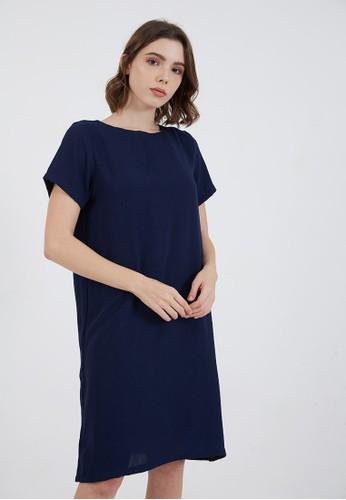Berrybenka Label blue Joy Simple Dress Navy 6BC5EAA61FE533GS_1