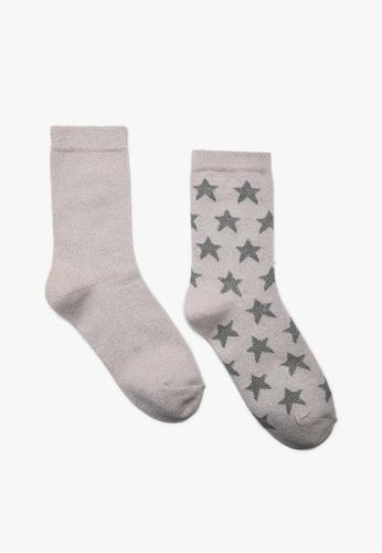 KOTON grey Gray 2 Pack Socks 0EDF7AAE30E112GS_1