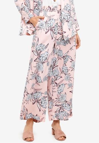 Zalia pink Printed Wide Leg Pants A77E1AA9944E73GS_1