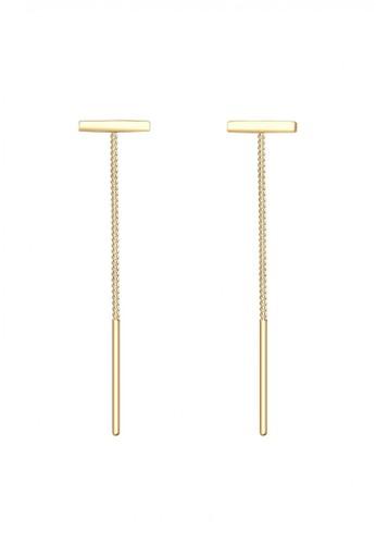Elli Germany gold Perhiasan Wanita Perak Asli - Silver Anting Chain Geo Minimalis Gold Plated 48F04ACC9DF9E0GS_1