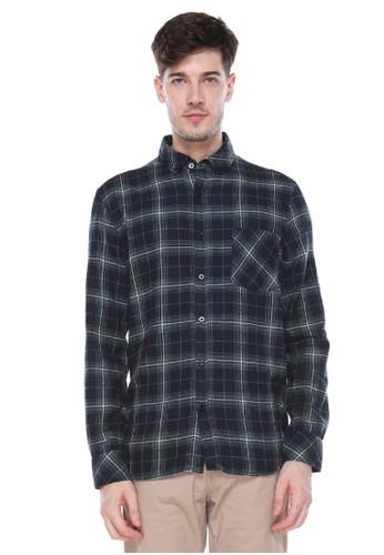 Dyllon black Dyllon Long Sleeve Flannel Shirt B47BBAA3A7B726GS_1