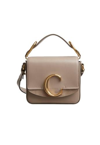 Chloé grey Chloe Mini Chloé C Crossbody Bag in Motty Grey F9992AC12D9568GS_1