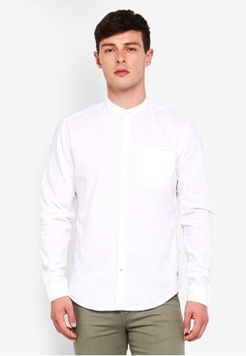 ESPRIT 白色 長袖襯衫 ABC5BAADE89634GS_1