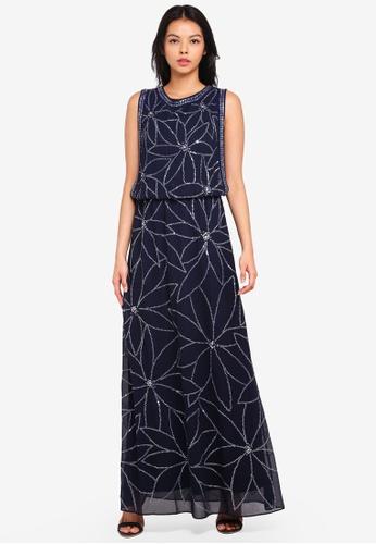 Dorothy Perkins navy Embellished Maxi Dress 18B99AAA541389GS_1