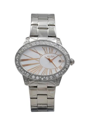 Alba silver ALBA Jam Tangan Wanita - Silver Rosegold - Stainless Steel - AXT313 5B516AC67C13FEGS_1