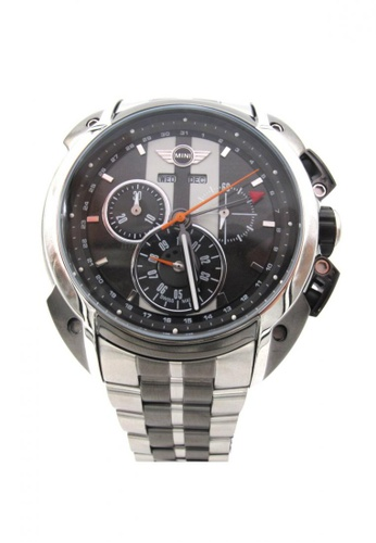 Mini grey and silver Chronograph Watch MI057AC98BJXHK_1