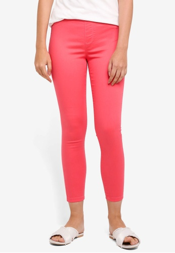 Dorothy Perkins pink Bright Coral Eden - Ultra Soft Jeggings 40A78AA2FE98DFGS_1