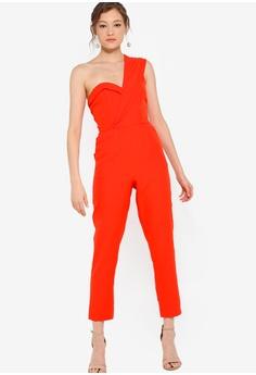 08675b87 Lavish Alice Double Layer Lapel One Shoulder Tailored Jumpsuit RM 449.00.  Sizes 8 10 12 14