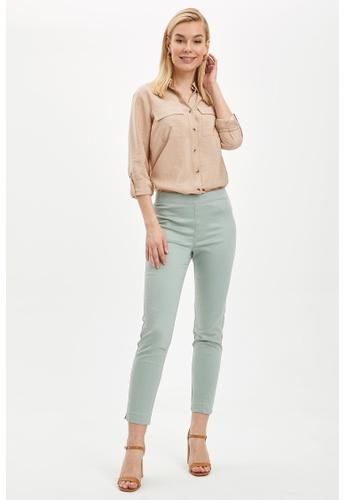 DeFacto brown Woman Woven Long Sleeve Shirt 4412BAAFBFC72EGS_1