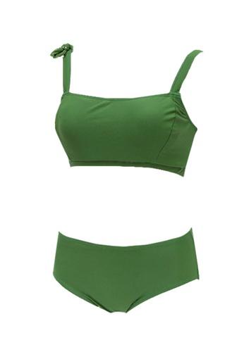 ZITIQUE green Women's Solid Color Bikini - Green 33328USDA96A2CGS_1
