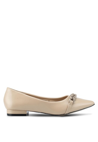 Nose beige Pointed Toe Low Heel Pumps 3904DSHAE97886GS_1