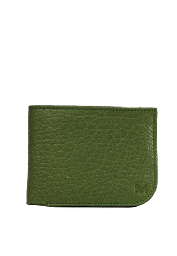 Miajee's green Slim Genuine Leather Handcrafted Curve Bifold Wallet - Green 11BA4ACECC529AGS_1