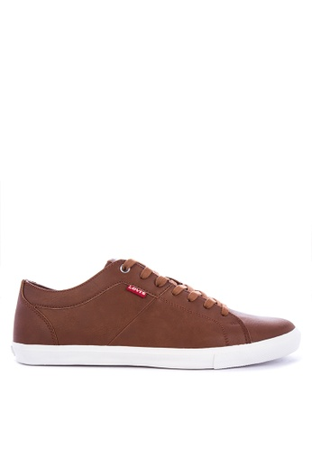 Levi's brown WOODS PU Sneakers 80267SH852BE75GS_1