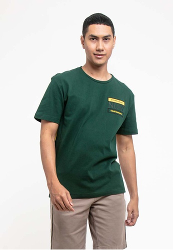 FOREST green Forest Cotton Linen Patterned Fashion Crew Neck Tee - 621151 67E4EAA8F83C8CGS_1
