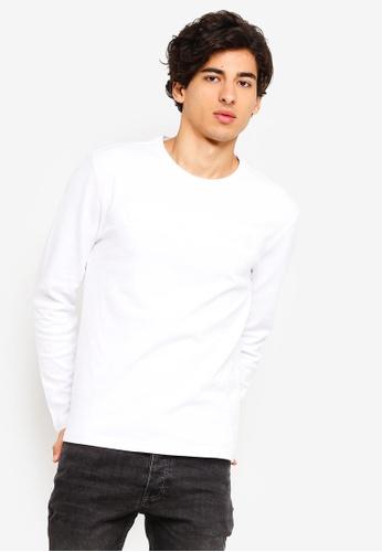 Calvin Klein 白色 長袖Fashion LOGO修身T恤 - Calvin Klein 牛仔褲 2BA23AA022A038GS_1