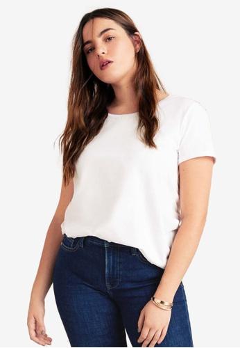 51ff94ea321 Violeta by MANGO white Plus Size Organic Cotton T-Shirt 92A56AA889C202GS 1