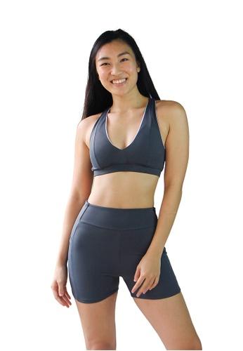 August Society grey Victoria Sport Swim Shorts - Titanium 34C2CAAFE0E3A9GS_1