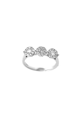 GOLDHEART gold GOLDHEART Luculent Trio with Pizzazz Ring, Diamond White Gold 750 (R3150) 30F12AC6195BCFGS_1