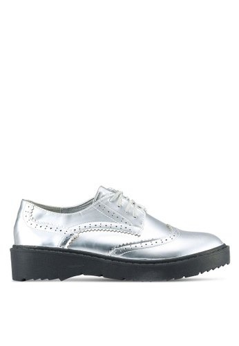 Something Borrowed silver Lace Up Derbies A54A4ZZA3ABB27GS_1