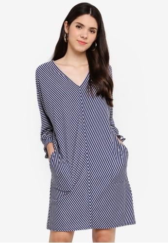 Max Studio multi Stripe Soft Frnch Terry Dress BBE5DAA8822668GS_1
