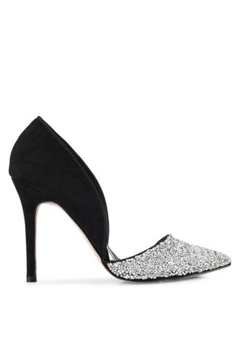 Miss KG black and silver Eloise Heels MI302SH0SD36MY_1