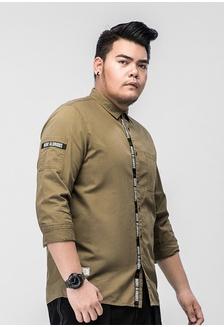 24c2d667a269b Plussize SG Shoulder Pocket Long Sleeve Plus Size Men Shirt  A710FAA3A63E2AGS 1 JSMIX ...