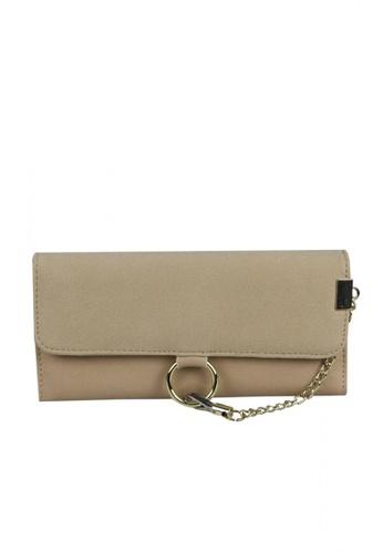 DNJ beige Kassy Wallet with Metal Chain DN487AC0JJEEPH_1