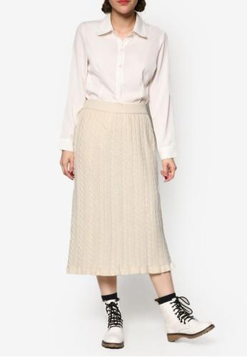 羊毛針織及膝短裙, 服飾, 裙esprit香港門市子