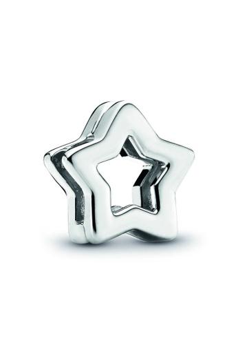 PANDORA silver Pandora Star Clip Charm 7B31DACC7C4A41GS_1