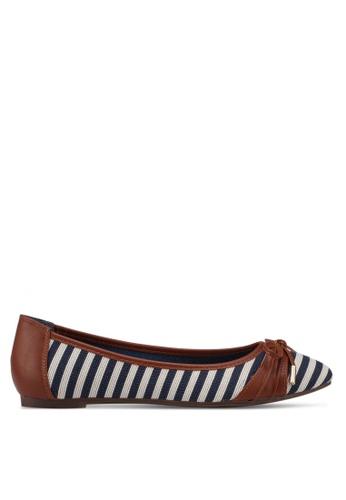 Carlton London 褐色 條紋平底鞋 61CAASH0744DDAGS_1